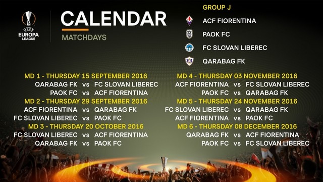 Europa League draw: Liberec will face Fiorentina, PAOK and Karabakh